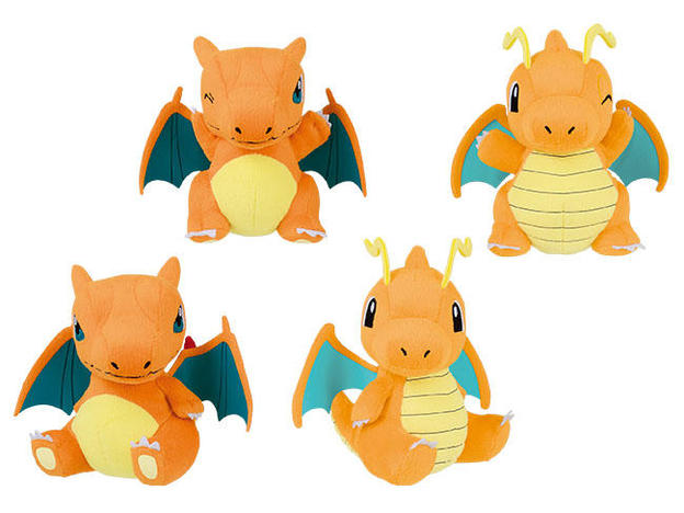 37854_POKEMON SUN _ MOON ROUND PLUSH-CHARIZARD, DRAGONITE-.jpg
