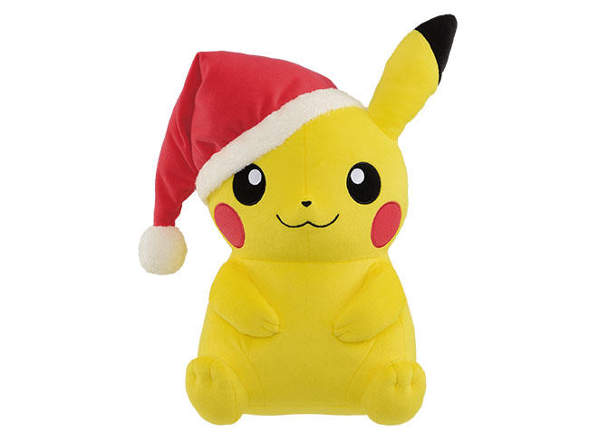 37885_pokemon sun _ moon super big plush christmas pikachujpg - Christmas Pikachu